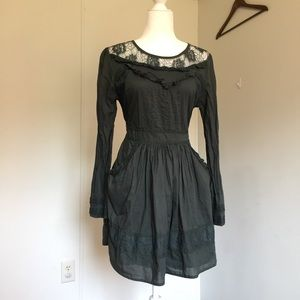 ASOS Dark Green Peasant Dress